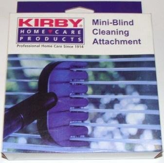 Kirby mini-blind cleaning attachment